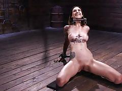 bdsm, torture, whipping, domination, fetish, vibrator, fingering, tattooed, metal bondage, nipples pinching, device bondage, kink, rocky emerson