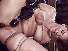 Blond babe is bound for master's cruel pleasures