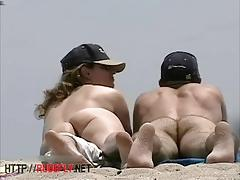 Amateur nudist beach cam voyeur vid