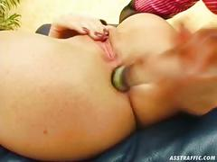 Ass traffic mercedes gets butt-pounded and swallows cum