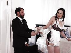milf, seduction, rimjob, maid, busty, bubble butt, fingering, brunette, role play, burning angel, dana dearmond, tommy pistol
