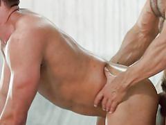 rimjob, blowjob, muscular, ball sucking, from behind, anal, condom, bearded, drill my hole, men.com, francois sagat, nicolas brooks