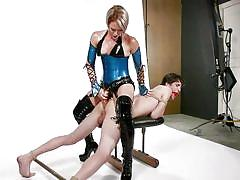 Helena painfully punishes her sex-slave