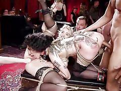 milf, bdsm, big ass, big tits, orgy, anal fisting, stockings, pussy licking, tattooed, from behind, rope bondage, the upper floor, kink, aiden starr, arabelle raphael, donny sins, chloe cherry