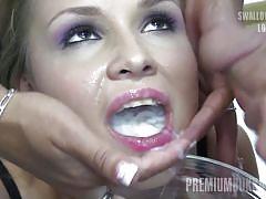 facial, swallow, bukkake, cumshot, cum swallow, cum in mouth, premiumbukkake, premium bukakke, premium bukkake