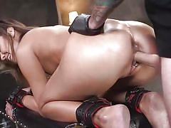 anal, bondage, bdsm, babe, big cock, deepthroat, punishment, domination, tattooed, from behind, collar, kink, tommy pistol, christy love