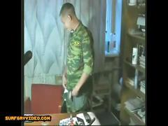 Russian soldiers handjobs