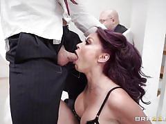 Big tittied housewife enjoying the big dick