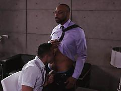 interview, interracial, deepthroat, black, office sex, bbc, noir male, seth santoro, ray diesel