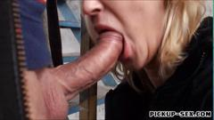 Linda ray fucked in a bus station for cash