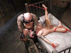 bdsm, rope bondage, big cock, deepthroat, domination, face fuck, bald, tattooed, bound gods, kink men, casey everett, jason collins