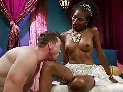 Ebony tranny keeps her lover in a cage
