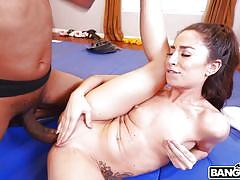 petite, babe, ebony, interracial, rimming, pussy licking, brunette, bbc, ponytail, monsters of cock, bangbros, cameron canela