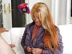 Busty blonde is in full horny mood @ horny grannies love to fuck #14