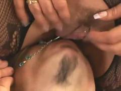 pussy, blowjob, fishnet, lingerie, fetish, heels, cunnilingus, submission, slave, mistress