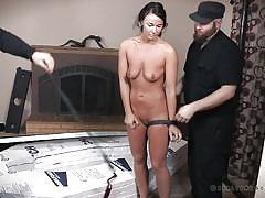 milf, bdsm, brunette, device bondage, coffin, real time bondage, london river