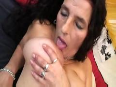 Mature long hair bigboobs latina granny getting dildo and fuck
