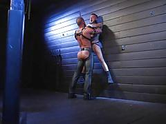 gays, tattooed, bdsm, whipping, leather, fetish, licking balls, domination, cock sucking, on knees, bald guy, bound gods, kink men, michael roman, cesar xes