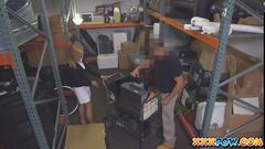 Sexy blonde milf banged in a pawn shop!