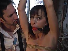 milf, bdsm, domination, butt plug, sex slave, ball gag, nipple clamps, rope bondage, electric shock, sex and submission, kink, tommy pistol, alana cruise