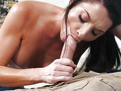 Milf wants a big cock down her throat