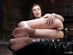 anal, babe, masturbation, fucking machine, vibrator, brunette, fucking machines, kink, casey calvert