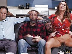 milf, big tits, big cock, latina, cheating, blowjob, pussy licking, hairy pussy, from behind, reverse cowgirl, real wife stories, brazzers, ariella ferrera, charles dera