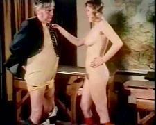 Vintage old man fuck in cabaret
