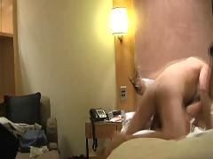 Asian milf tan stocking sex in hotel room