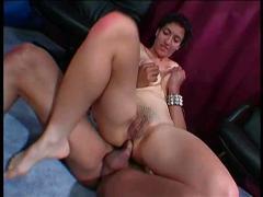 Amateur brunette anal