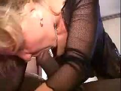 Cuckold husband watch his wife with a black stallion