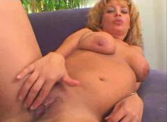 Blonde slut masturbates by snahbrandy