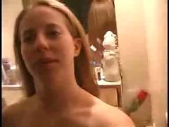 Homemade interracial cute white girl & bbc