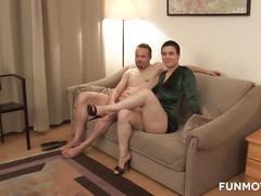 big natural tits, german, interview, amateur homemade, couple, german amateur