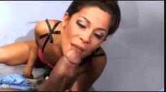 Michelle fits fat black cock in her ass