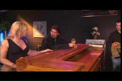 She gets him all the way at bar!  bb