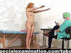 Redhead sweetie's gyno exam