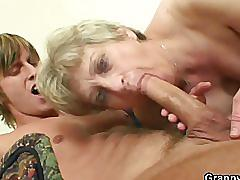 mature, fetish, grannybet.com, blonde, granny, grandmother, young and old, sucking dick, spooning, natural tits, shaved