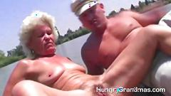 Old ladies love to gag on nice days