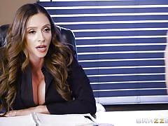 milf, big tits, big cock, latina, stockings, blowjob, pussy licking, brunette, office sex, big tits at work, brazzers, ariella ferrera, sean lawless