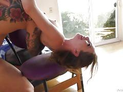 Angel's extreme anal session ended on a happy note @ psychotic behavior