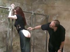 Redhead tits tortured