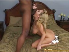 A huge black cock for sexy blonde sophie dee.