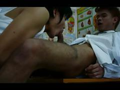 Ass and cock eating horny asian doctor