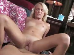 Blonde elaina raye rides a big cock in pov