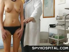 Nude female physical exam spy clip