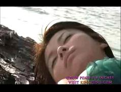 Japanese school girl fucked on the beach part2