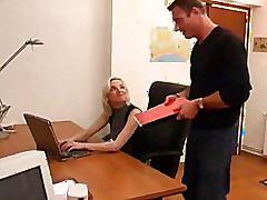 Work place sluts - new secretary hard at work and ready ro fuck