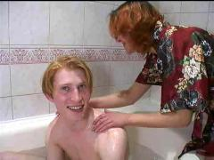 Redhead milf sex in bathroom