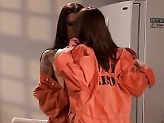 Lesbian prisoners fuck in a lunch break